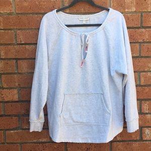 Distressed sweatshirt by Victoria Secret.